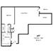 432 North Palm Drive - 1 Bedroom, 1 Bath - Floor Plan